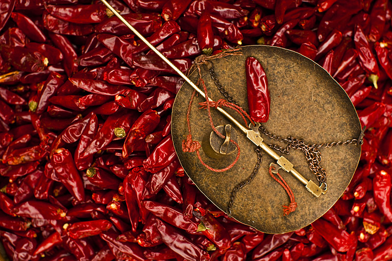 Sichuan chili and scale
