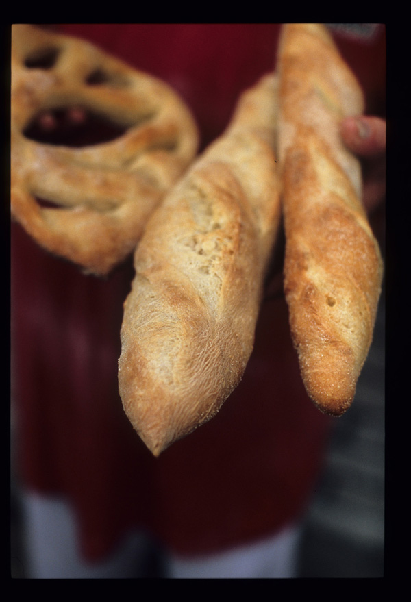 Fougasse_and_baguette_loaves